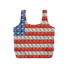 Geometricus Usa Flag Full Print Recycle Bags (s)