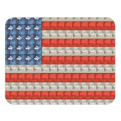 Geometricus Usa Flag Double Sided Flano Blanket (large)