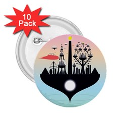 Future City 2 25  Buttons (10 Pack)