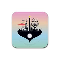 Future City Rubber Coaster (square)