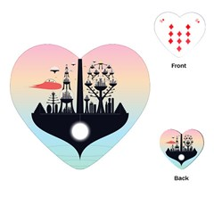 Future City Playing Cards (heart)