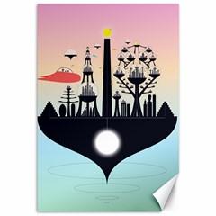 Future City Canvas 12  X 18