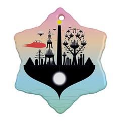 Future City Ornament (snowflake)