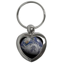 A Sky View Of Earth Key Chains (heart)