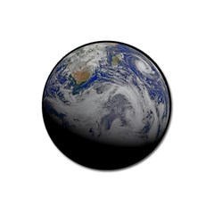 A Sky View Of Earth Magnet 3  (round)