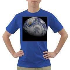 A Sky View Of Earth Dark T Shirt
