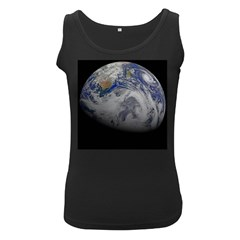 A Sky View Of Earth Women s Black Tank Top