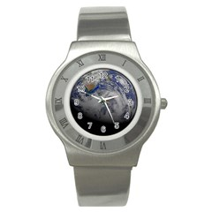 A Sky View Of Earth Stainless Steel Watch