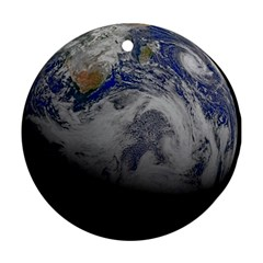 A Sky View Of Earth Round Ornament (two Sides)