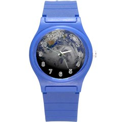 A Sky View Of Earth Round Plastic Sport Watch (s)