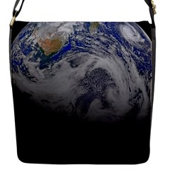 A Sky View Of Earth Flap Messenger Bag (s)