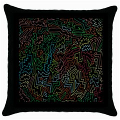 Zigs And Zags Throw Pillow Case (black)