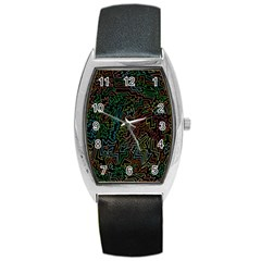 Zigs And Zags Barrel Style Metal Watch