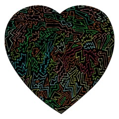 Zigs And Zags Jigsaw Puzzle (heart)