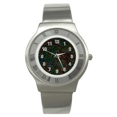 Zigs And Zags Stainless Steel Watch