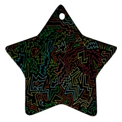 Zigs And Zags Star Ornament (two Sides)