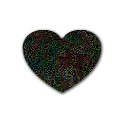 Zigs And Zags Heart Coaster (4 Pack)