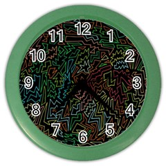 Zigs And Zags Color Wall Clocks