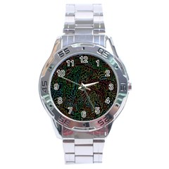 Zigs And Zags Stainless Steel Analogue Watch