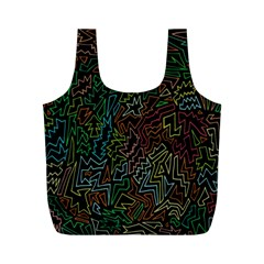 Zigs And Zags Full Print Recycle Bags (m)
