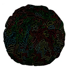 Zigs And Zags Large 18  Premium Flano Round Cushions