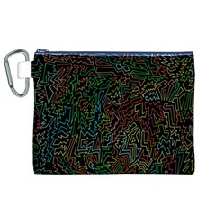 Zigs And Zags Canvas Cosmetic Bag (xl)