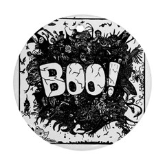 Monster Art Boo! Boo2 Round Ornament (two Sides)