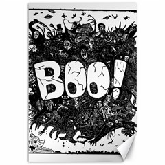 Monster Art Boo! Boo2 Canvas 12  X 18