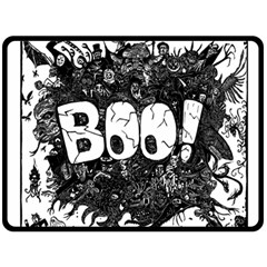 Monster Art Boo! Boo2 Fleece Blanket (large)