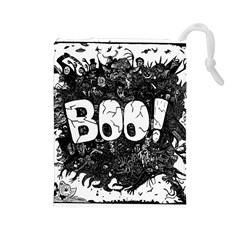 Monster Art Boo! Boo2 Drawstring Pouches (large)