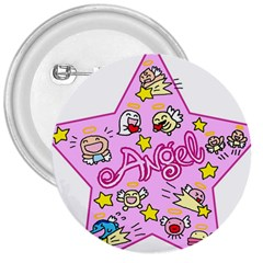 Pink Angel Star 3  Buttons