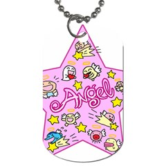 Pink Angel Star Dog Tag (two Sides)