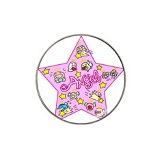 Pink Angel Star Hat Clip Ball Marker (10 Pack)
