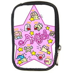 Pink Angel Star Compact Camera Cases