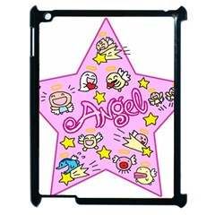 Pink Angel Star Apple Ipad 2 Case (black)
