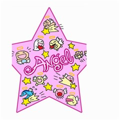 Pink Angel Star Small Garden Flag (two Sides)