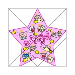 Pink Angel Star Acrylic Tangram Puzzle (6  X 6 )