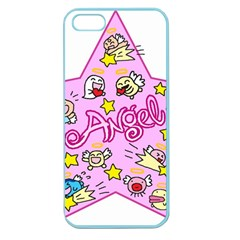 Pink Angel Star Apple Seamless Iphone 5 Case (color)