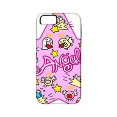 Pink Angel Star Apple Iphone 5 Classic Hardshell Case (pc+silicone)