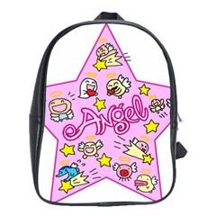 Pink Angel Star School Bag (xl)