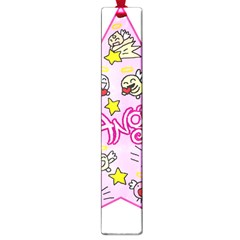 Pink Angel Star Large Book Marks