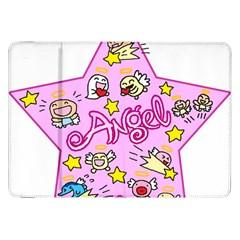 Pink Angel Star Samsung Galaxy Tab 8 9  P7300 Flip Case