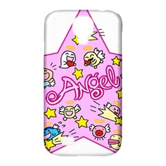 Pink Angel Star Samsung Galaxy S4 Classic Hardshell Case (pc+silicone)