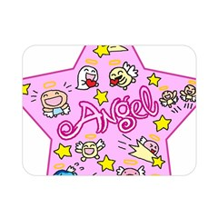 Pink Angel Star Double Sided Flano Blanket (mini)