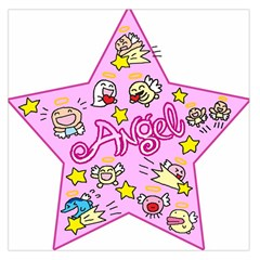 Pink Angel Star Large Satin Scarf (square)