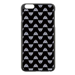 Wave Pattern Black Grey Apple Iphone 6 Plus/6s Plus Black Enamel Case