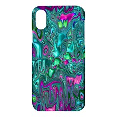 Melted Fractal 1c Apple Iphone X Hardshell Case