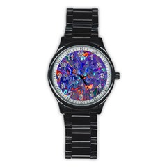 Melted Fractal 1b Stainless Steel Round Watch