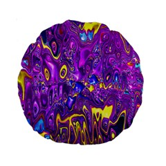 Melted Fractal 1a Standard 15  Premium Round Cushions