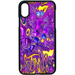 Melted Fractal 1a Apple Iphone X Seamless Case (black)